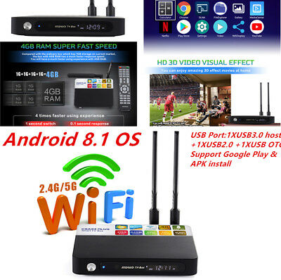 4+64GB Android8.1 Amlogic RK3328 Octa Core 4K TV BOX CSA93 PLUS Media Functional