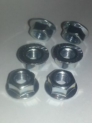 Honda VFR 750 96 97 A2 bright stainless steel rear sprocket nuts x 6 all years