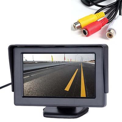 "4.3"" LCD TBT Car RearView Headrest Color Monitor For Car Reversing Camera GPS BT"