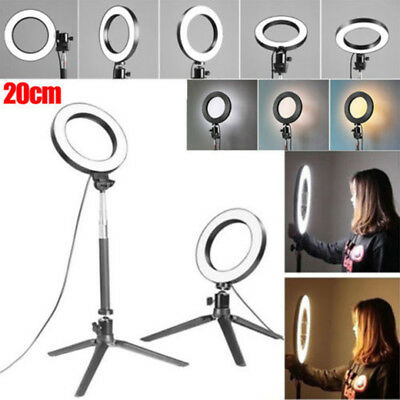 For Camera Photo Video Lamp 20cm 3IN1 Dimmable LED Live Studio Ring Beauty Light