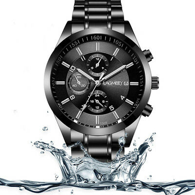 UK Luxury Automatic Mechanical Watch Men's Skeleton Steel Stainless Wristwatch