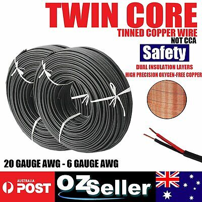 OFC Twin Core Copper Wire Automotive Cable 2 Sheath Wires Electrical Cable Wire