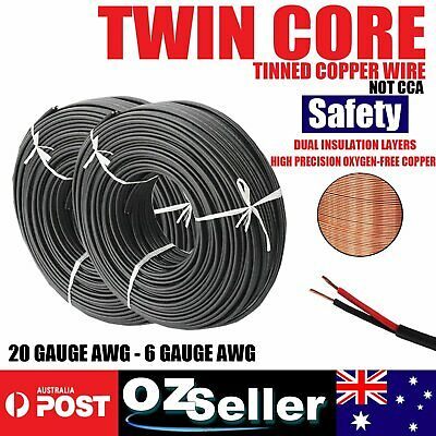 OFC Twin Core Tinned Copper Wire Electrical Cable Wires Welding Battery Cable