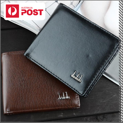 Leather Men's Wallet Minimalist Bi-Fold With Zipper, Coin, Note & Card Slots