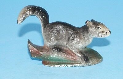 ANTIQUE GREY SQUIRREL CAST IRON BOTTLE OPENER WILDIFE CIRCA 1940's