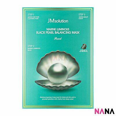 JM Solution Marine Luminous Black Pearl Balancing Mask (10 Sheets)