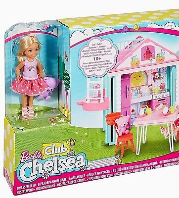 Barbie Club Chelsea Clubhouse Playset 10+ Pieces Includes Doll! Age 3+ Mattel