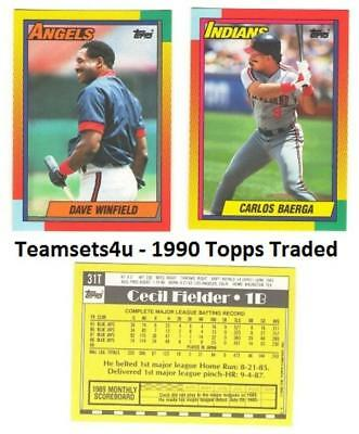1990 Topps Traded Baseball Set ** Pick Your Team ** See Checklist