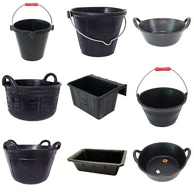 NEW Red Gorilla Flexible & Indestructible Tyre Rubber Buckets Troughs & Skips