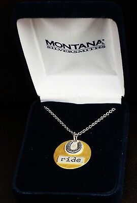 "A TRULY GORGEOUS ""HORSESHOE / RIDE"" PENDANT by MONTANA SILVERSMITHS EXCELLENT"