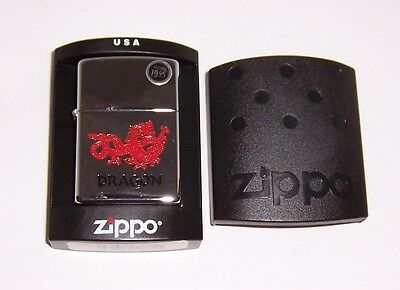 Zippo Lighter Red Dragon 2003 Sealed