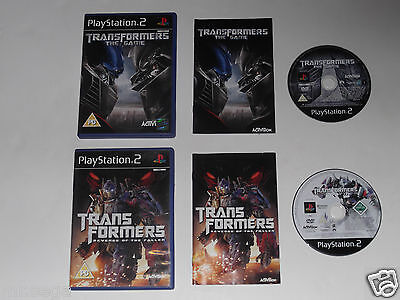 TRANSFORMERS REVENGE OF THE FALLEN & TRANSFORMERS THE GAME for PLAYSTATION 2