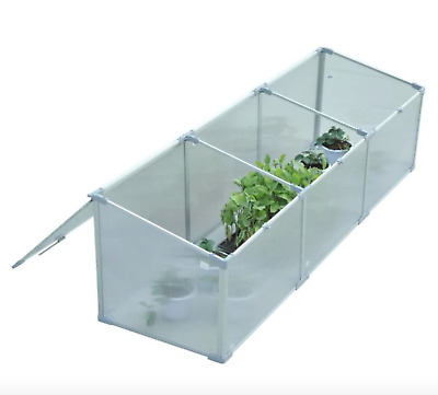 Outsunny Aluminum 71 in. Rectangular Vented Cold Frame Greenhouse