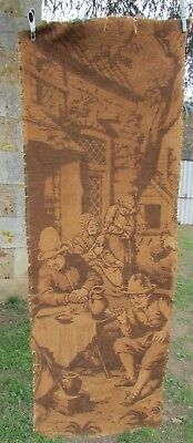 SUPERB ANTIQUE FRENCH CHATEAU 19thC TAPESTRY PANEL COUNTRY SCENE PERFECT 4 FRAME