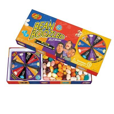 Jelly Belly BEAN BOOZLED COMBO DEAL 3.5 oz Spinner Gift Box w/ 1 - 1.9 oz bag