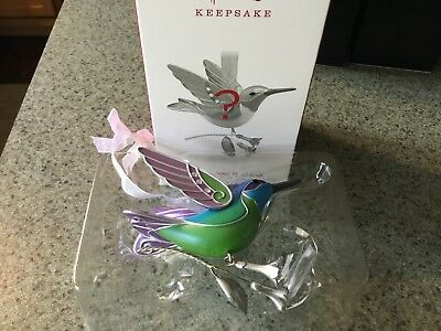 Hallmark Mystery Repaint Ornament 2018 Hummingbird Surprise Greeen / Blue 2213GR