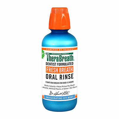 NEW Therabreath Oral Rinse Icy Mint - 473mL