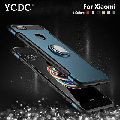 Magnetic Base Ring Holder Case For Xiaomi Mix 2S Max 3 8 SE Redmi Note 5 6 Pro