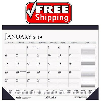 House Of Doolittle Recycled Two-Color Monthly Desk Pad Calendar 22x17 Year 2019