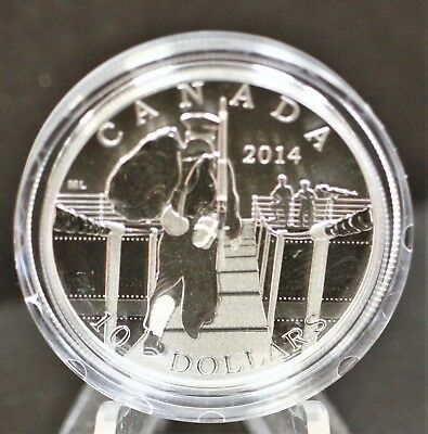 Canada 2014 $10 Mobilization of our Nation Pure Silver Proof. 1264