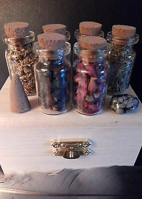 STARTER HERB WITCH Chest Kit - Apothecary Wicca Spell Pagan