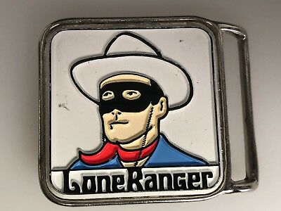 The Lone Ranger Metal Belt Buckle Blue,Red,White Pyramid Belt CO. Inc NY, NY