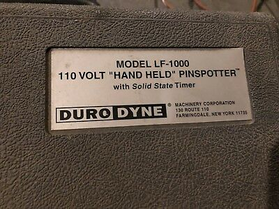 Duro Dyne PinSpotter LF-1000 Hand Held Spot Welder with Solid State Timer 110V