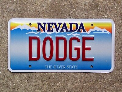 Nevada Vanity License Plate DODGE Challenger Charger Dart Demon Coronet Hemi R/T