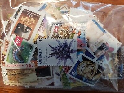 FREE REGISTERED POST on Unfranked Stamps Mixed  OFF PAPER !  FV $100
