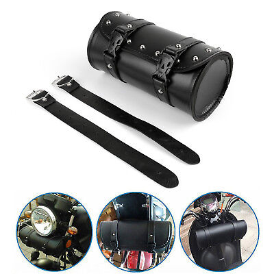 Motorcycle Front Fork Tool Bag Pouch Luggage SaddleBag Leather