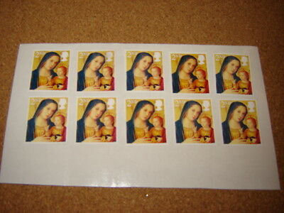 10 X  2nd CLASS  STAMPS ON EASY PEEL AND STICK PAPER