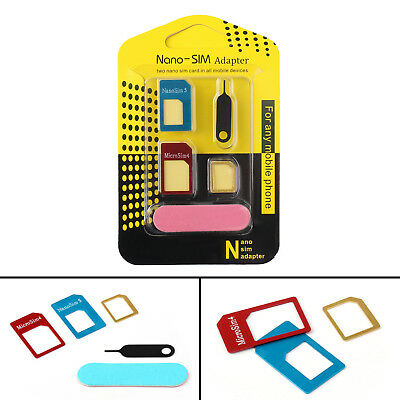1Pcs Nano SIM Card to Micro Standard Adapter Converter Set For Samsung iPhone