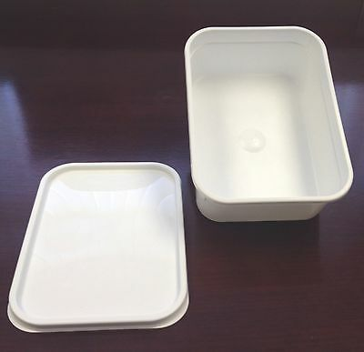 2 Litre Plastic Ice Cream Container/food Storage With Lids X 20