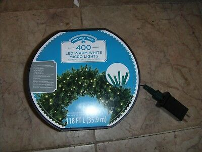 Holiday Time 70 Blue Led Micro Icicle Style Lights White