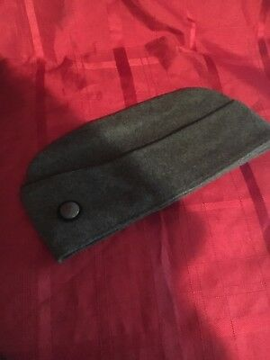 VTG MENS LARGE SWISS SWEDISH WOOL GARRISON ARMY MILITARY GREEN HAT Size 58