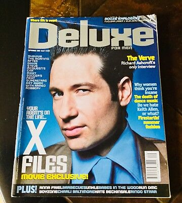 Deluxe For Men Magazine September 1998. David Duchovny Cover.
