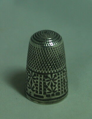 Victorian Silver Thimble HG&S BIrmingham 1899 Size 13 3.8g A602017