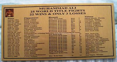 Boxing Muhammad Ali  Gold Plaque 200x100mm SPECIAL
