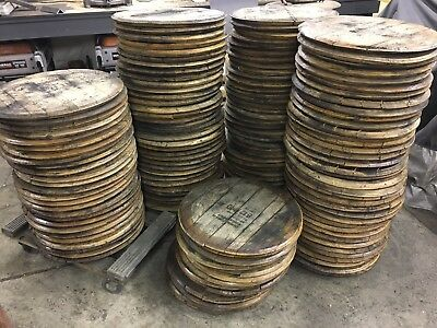 Bourbon Whiskey Whisky Barrel Head/Top/Lid/End Oak, AUTHENTIC distillery stamp