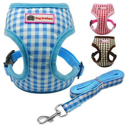 Dog Harness Chest Strap Puppy Vest Small Dog Pet Breathable Mesh and Leash Set