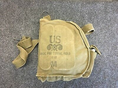 Vietnam Era  US Army Gas Mask and Carrier