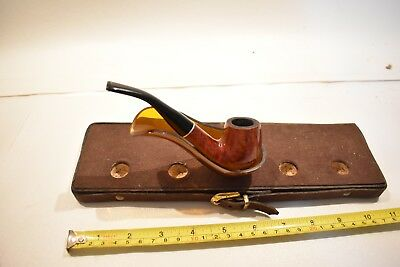 Nice Vintage Antique Wooden Tobacco Pipe - Dr. Grabow - Briar Wood Cut Leaves US