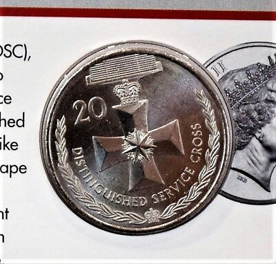 2017 Legends of the ANZACS Distinguished Service Cross 20 cent coin