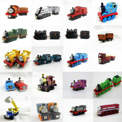 Fun Tank Engine Take-n-Play Engines & Carriages Magnetic Wooden Trains Kids Toys