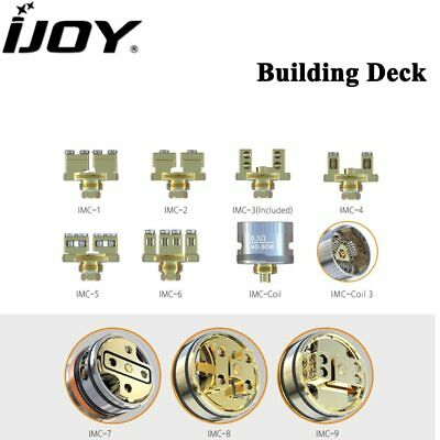 IJOY Interchangeable Gold-Plated Building Deck IMC-1/2/3/4/5/6/7/8/9 IMC-Coil/3