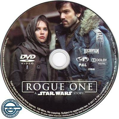 Rogue One: A Star Wars Story (DVD, 2017) // Ex-Rental // NO COVER // Disc & Case