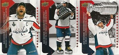 2018-19 Upper Deck Alexander Ovechkin Wins the Cup set 1-3