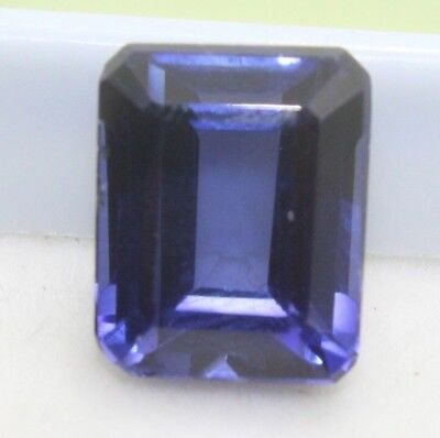 Ggl Certified 7.70 Ct Natural Blue Sapphire Ring Size Ceylon Emerald Shape