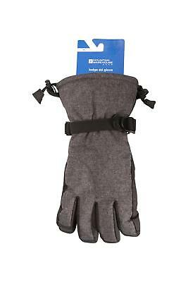 Mountain Warehouse Lodge Durable Ski Gloves with Snowproof Upper & Nose Wipe