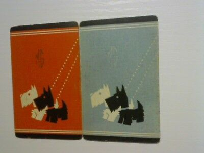 2 Swap/Playing Cards -  Pair Scottie Dogs with Initials (MG)